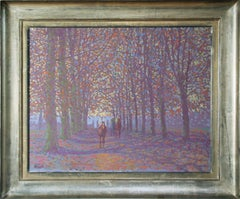 Peter Howell, Forest Scene, Oil on Canvas
