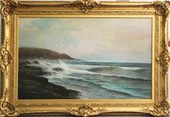 Warren W. Sheppard, Breakers Along the Rocky Shore, Nantasket Beach, MA, ca 1885