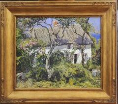 Walter Schofield, Cornish Cottage, Oil on Canvas, Period Frame