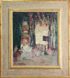 Paulette Van Roekens, Shadow and Light, Oil on Canvas, 1920's
