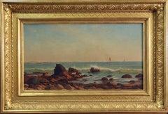 William Stanley Haseltine, Narragansett Bay, Newport, RI, Oil on Canvas, 1865