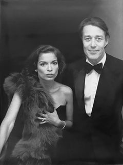 Bianca Jagger & Halston attend the Metropolitan Museum of Art Costume Institute