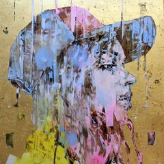 Marco Grassi Grama, The Gold Experience (Baseball Cap), Acrylic on gold leaf