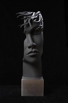 Manuel de Francesch, Suddenly She, Lime Wood, Sea Sand, Acrylic, Stainless Steel