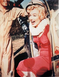 Marilyn Monroe Visiting Korean War Troops by Frank Worth 1954 in Color 22 of 75