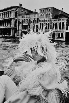 """Model in Venice"" 1966 Original Silver Gelatin Print by Helmut Newton"