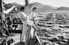 Winnie On Deck, Cannes 1975, Original Silver Gelatin Print by Helmut Newton