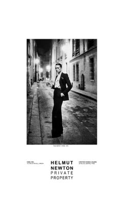 Rue Abriot, Paris, 1975 Private Property Exhibition Poster by Helmut Newton
