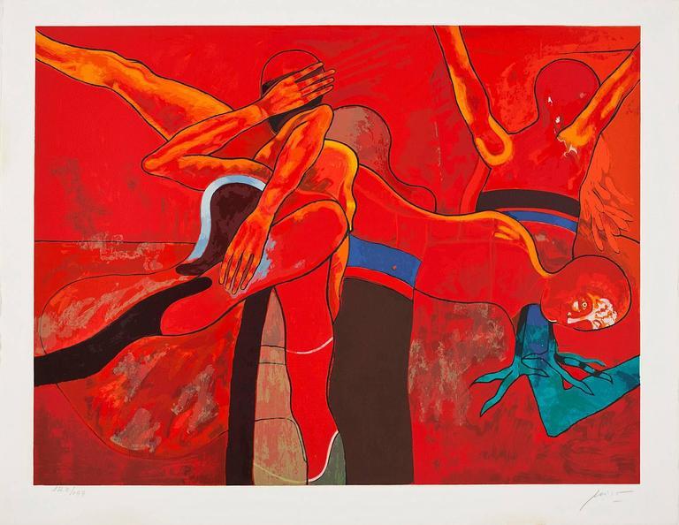 Ernesto Deira Print - Canta, oh diosa, a la colera...