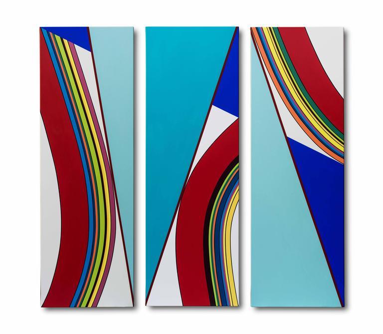 Alejandra Barreda Abstract Painting - 111 Diagonal #2