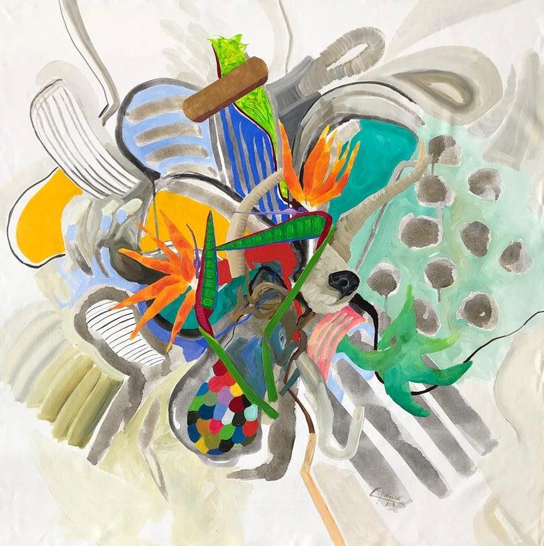 Carina Lopez Winschel Landscape Painting - Untitled - Heartscapes Series