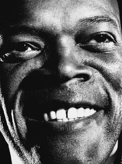 art celebrity portrait photography of Samuel L Jackson by Nigel Parry