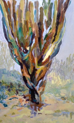 Elephant Cactus II - Contemporary, 21st Century, Abstract, Landscape Painting