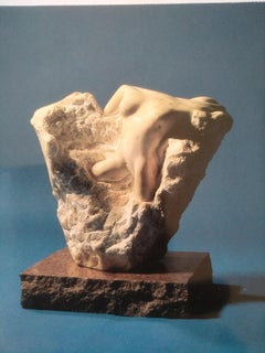 Ecstasy- 21st Century Contemporary White Alabaster Nude Sculpture