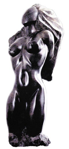 Elegance - 21st Century Contemporary Bronze on Granite Base Nude Sculpture