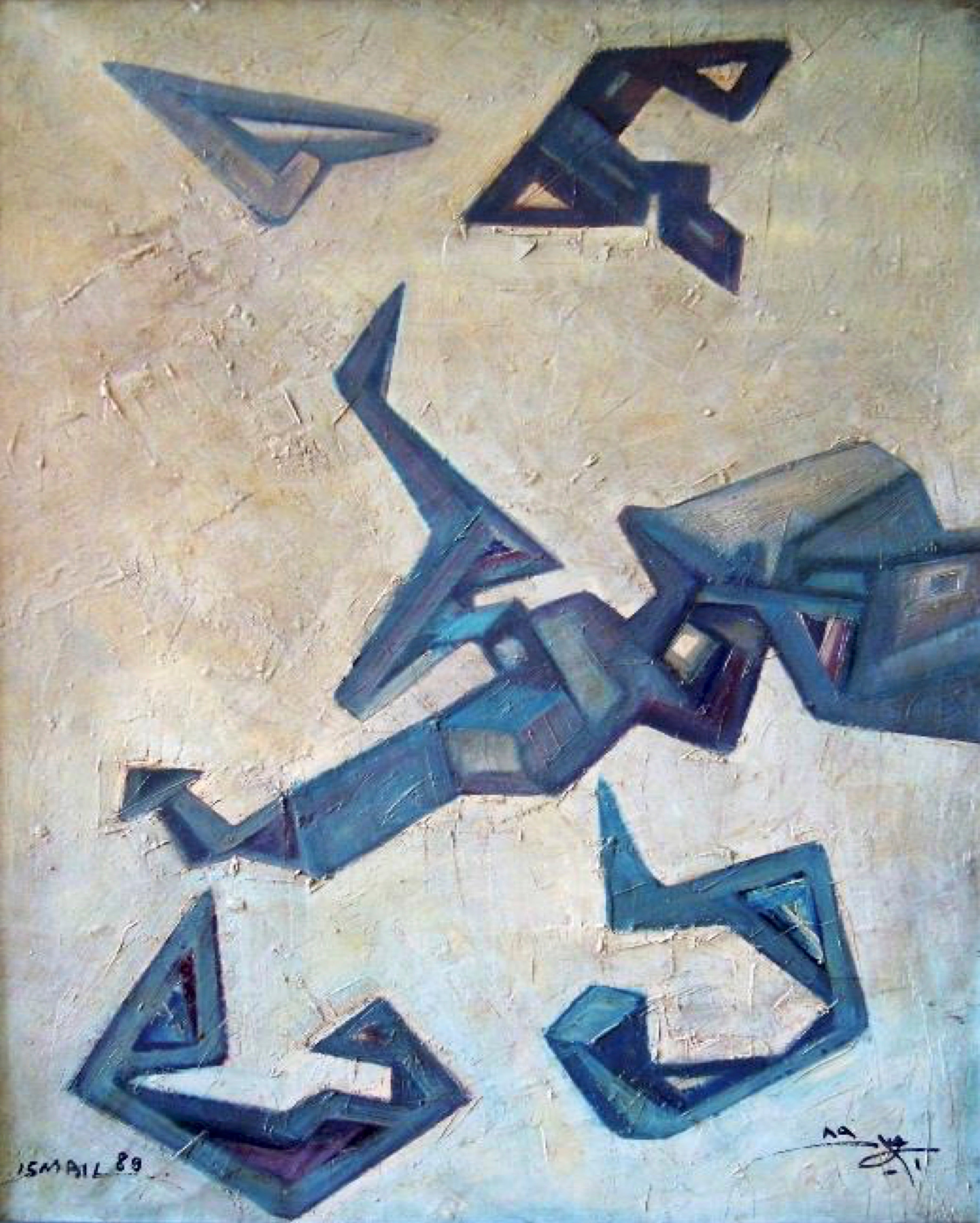 """""""Deconstruction IV"""" Oil Painting 28"""" x 20"""" inch by Mohammed Ismail"""