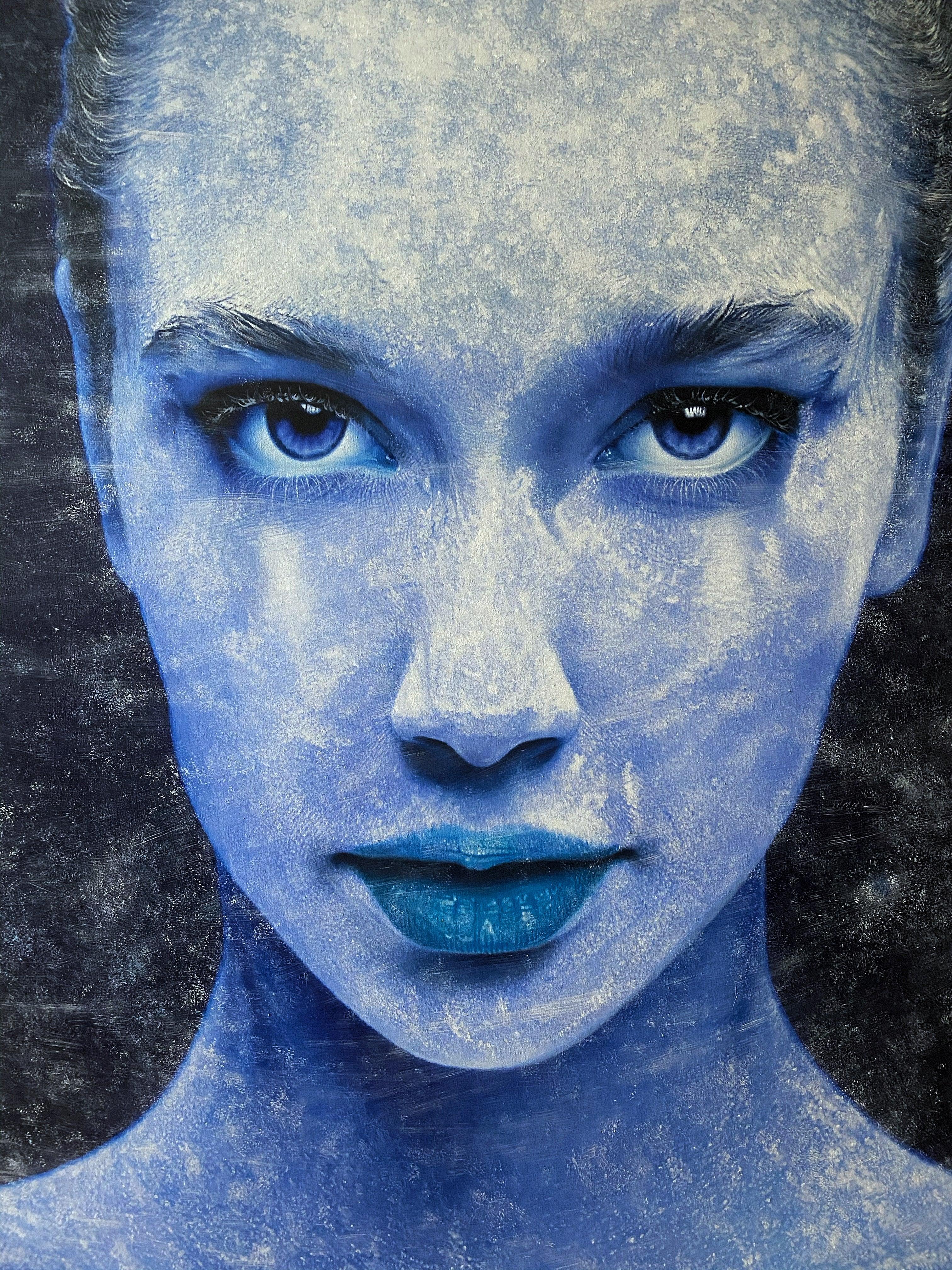 """Astral"" Oil on canvas painting 47"" x 39"" inch by Dmitriy Krestniy"