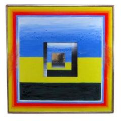 Large abstract mixed media by American artist Edward Giobbi