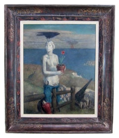 American surrealist oil painting by Norwood MacGilvary
