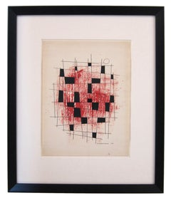 American Bauhaus constructivist painting by Chicago artist William Fredericksen