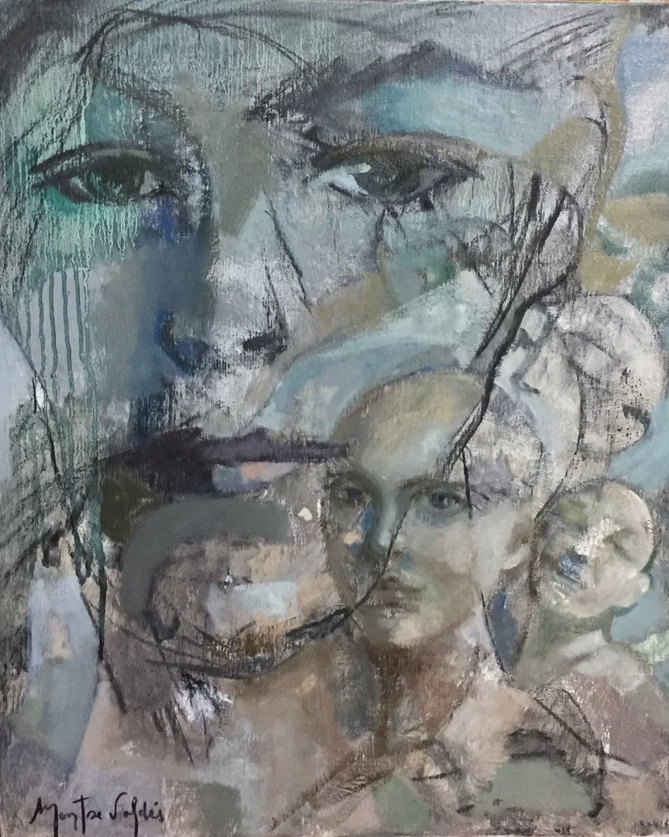 3B-15 - 21st Century, Contemporary, Portrait Painting, Oil on Canvas