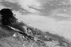 Juliane Swimming at Block Island