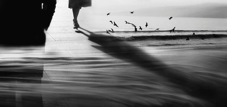 Sarah Hadley Black and White Photograph - Chance Encounter