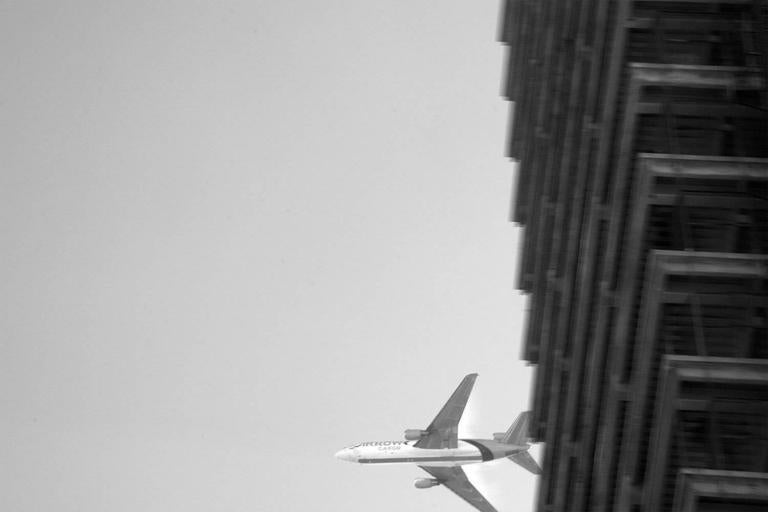 Brian Pearson Black and White Photograph - Ascending DC-10 Cargo Jet
