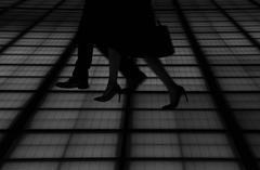 Pedestrians at Tokyo International Forum