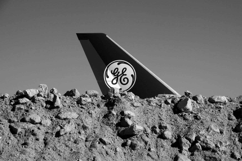 GE 747 Propulsion Test Jet + Rock Mound, Mojave Desert, CA, 2016