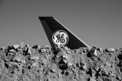 GE 747 Propulsion Test Jet + Rock Mound