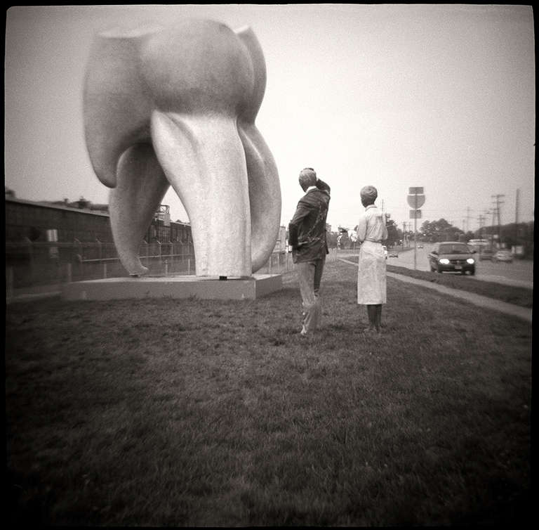 Gordon Stettinius Black and White Photograph - Big Tooth, Trenton, NJ