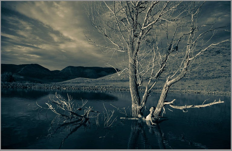 Tanya Malott Black and White Photograph - Goddess of Healing Waters