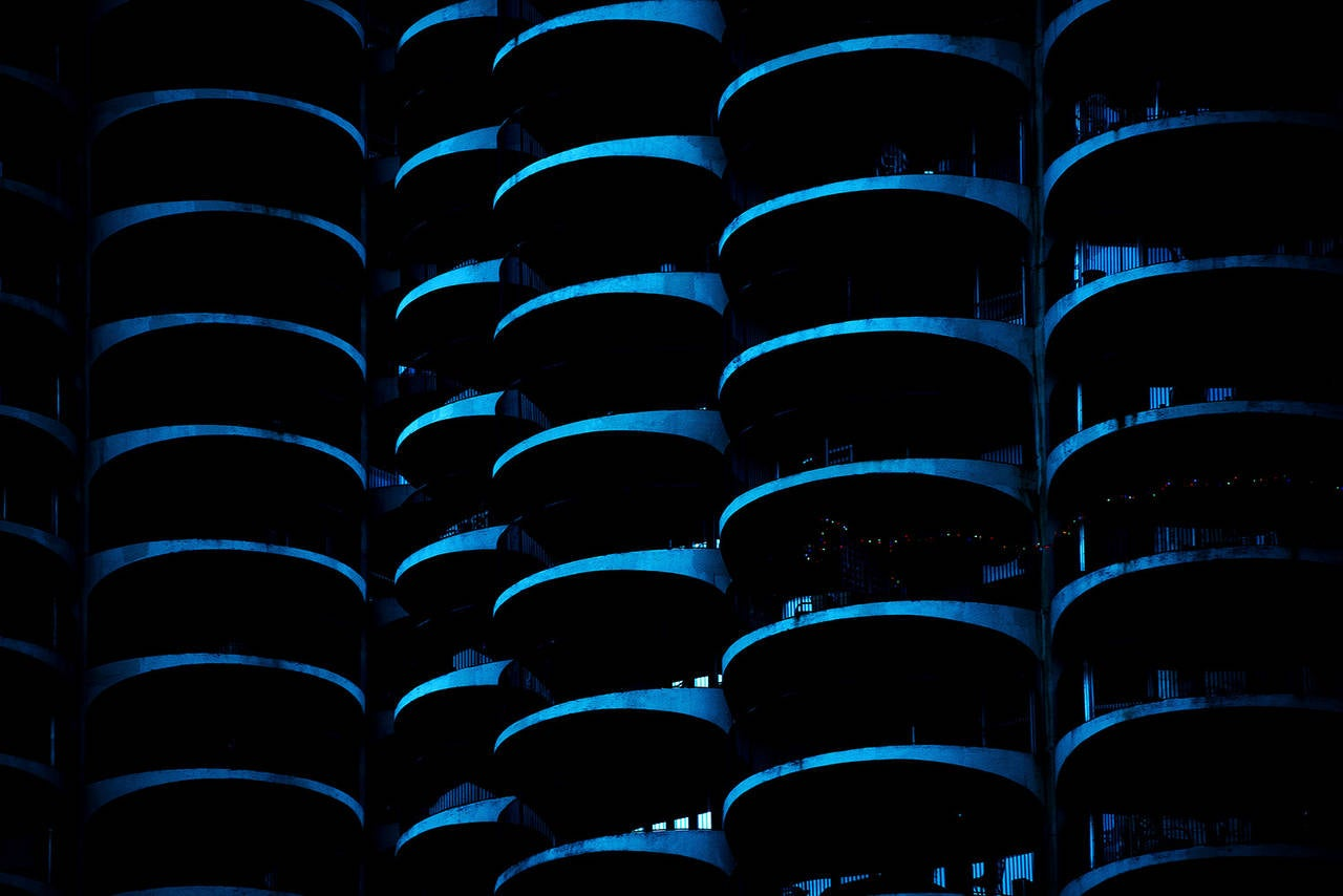 Chris Fan Color Photograph - Neon Chicago