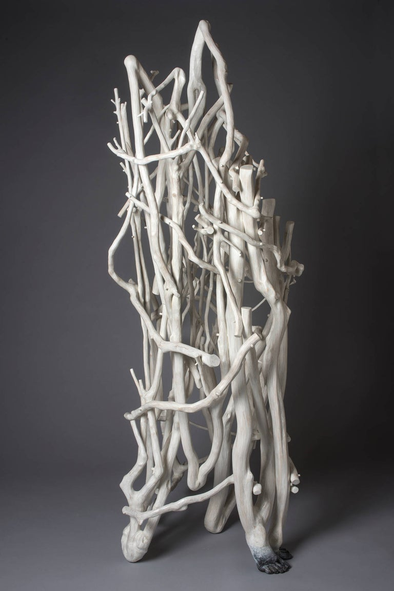 Sherry Owens Abstract Sculpture - Twirling like a Seed in the Wind