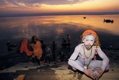 Bathing in the Ganges at Dawn, Varanasi, India