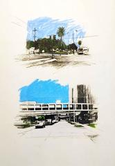 Land Drawings and Watercolor Paintings