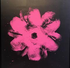 Power Flower N-2 (Light pink on black)