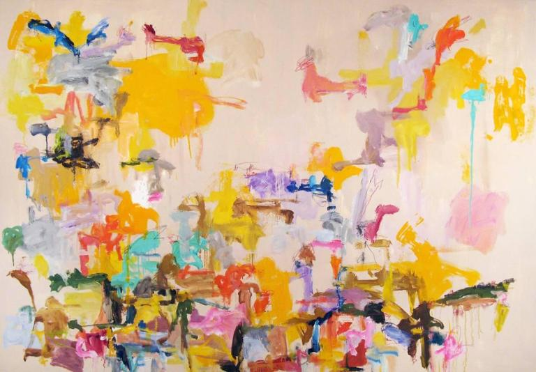 Kikuo Saito Abstract Painting - Zoo