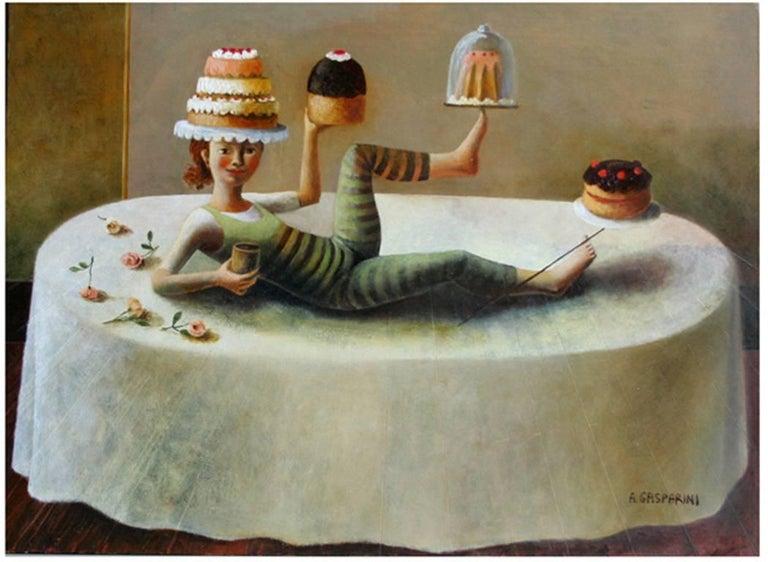 Alessandra Gasparini Figurative Painting - Centrotavola
