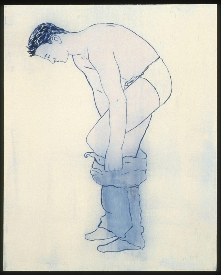 Untitled (pulling up trousers) from the series A Job to Do