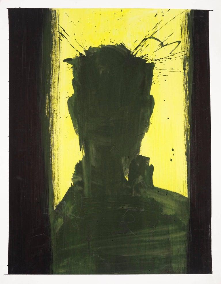 Richard Hambleton - Head (Black and Yellow) 1