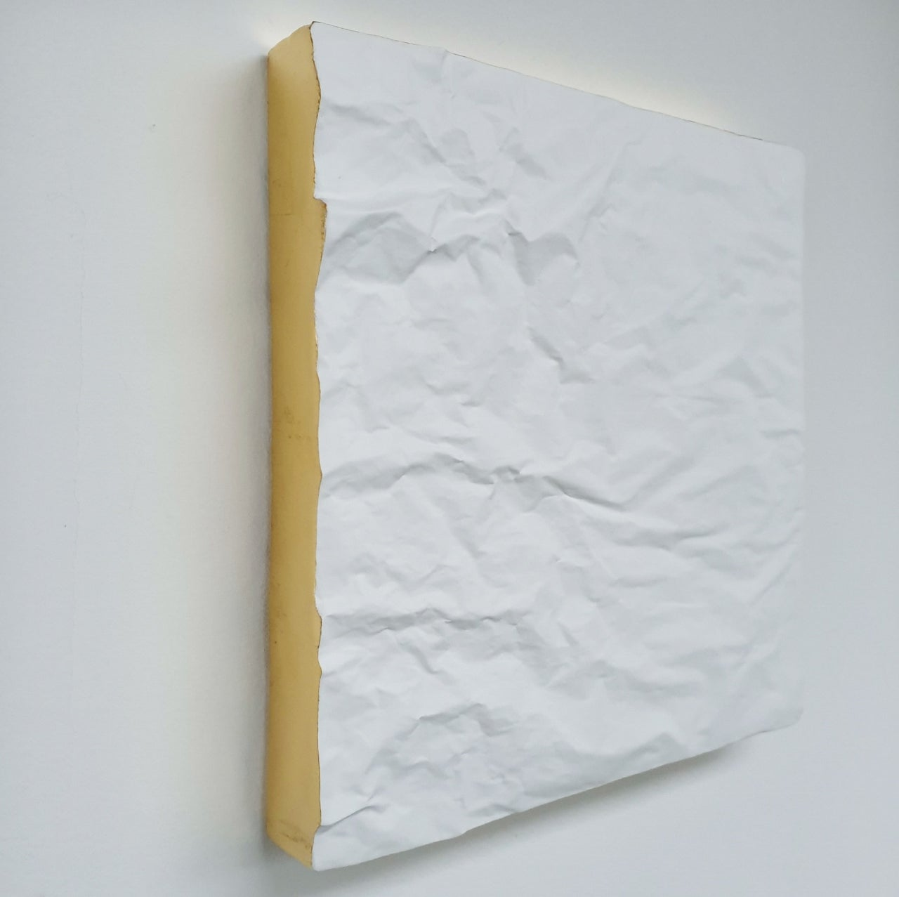 Creased no. 15 - contemporary modern abstract wall sculpture painting object
