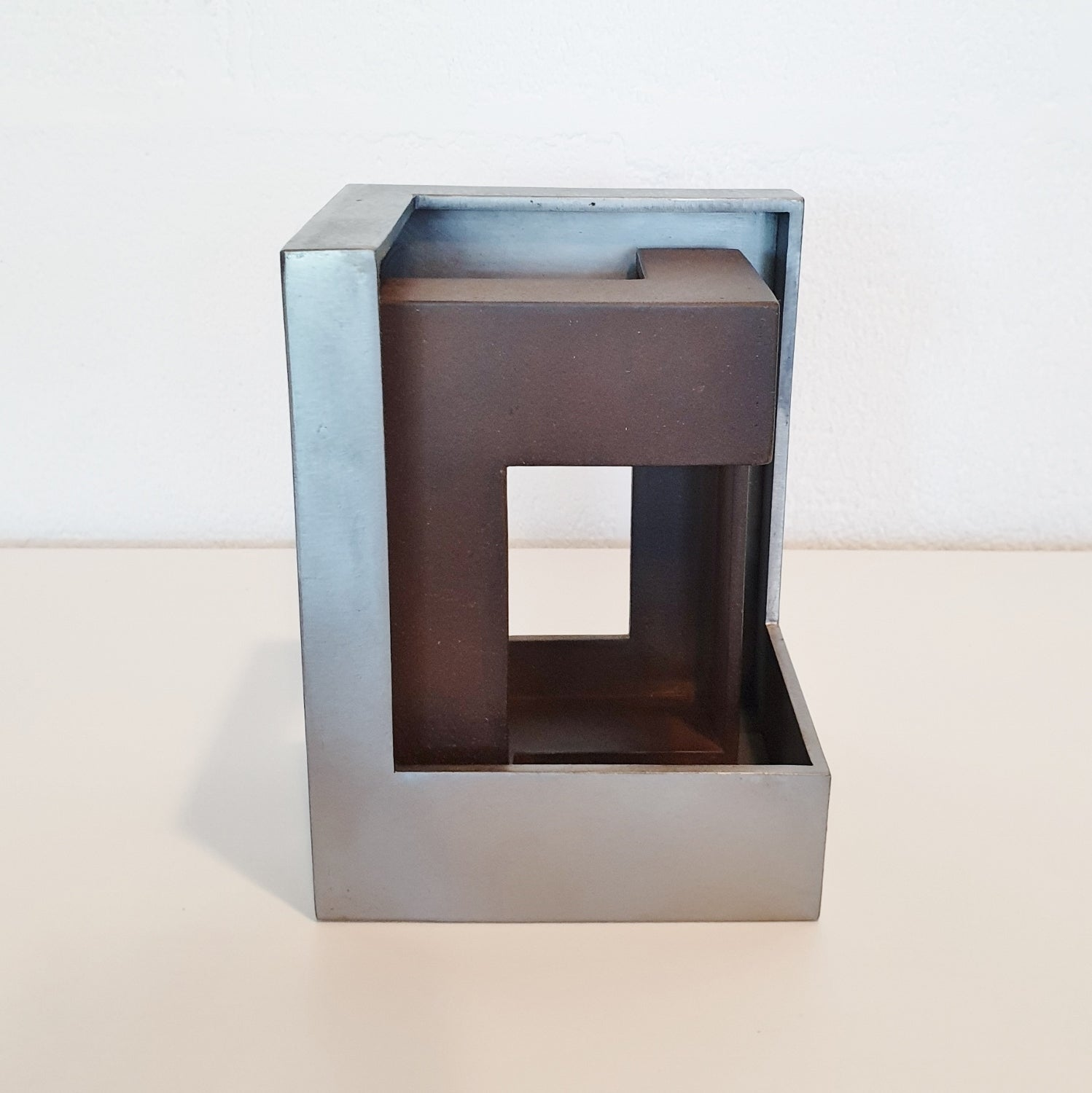 Pareja 07 - contemporary modern abstract geometric steel sculpture