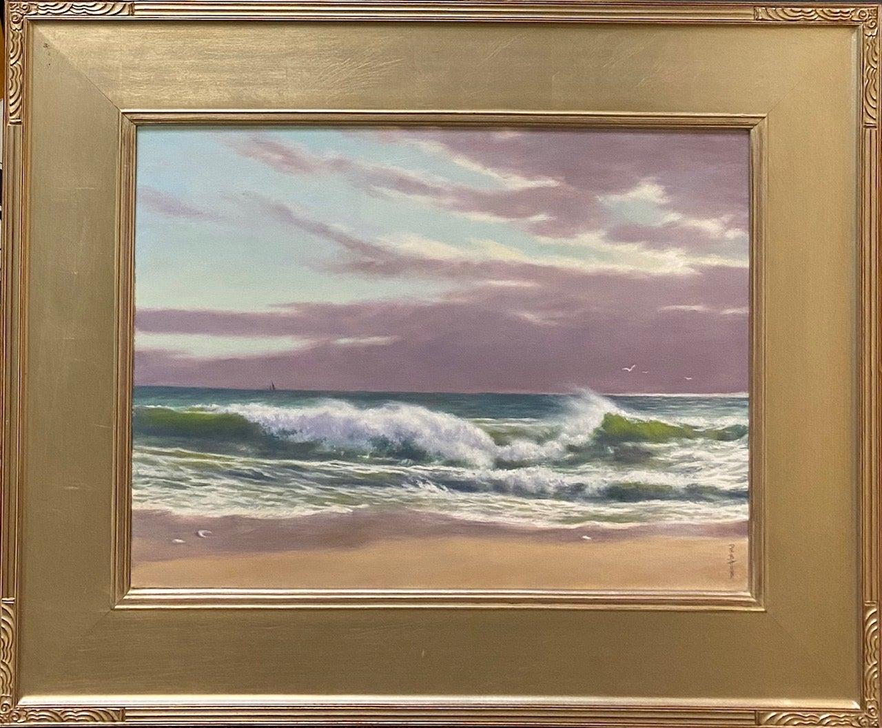 The Breakers, original 18x24 impressionist marine landscape