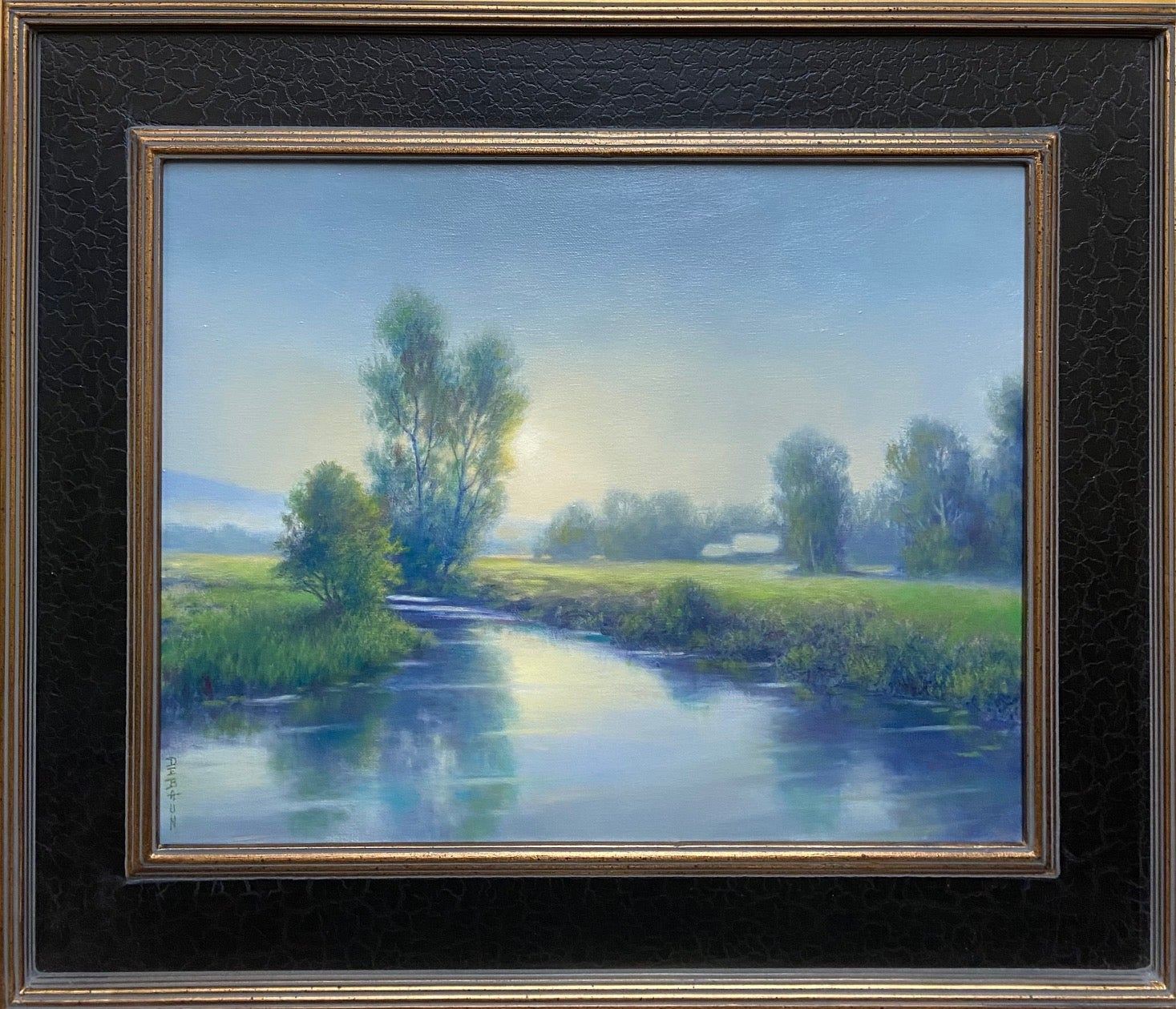 Serene Morning, original Hudson River School impressionist landscape