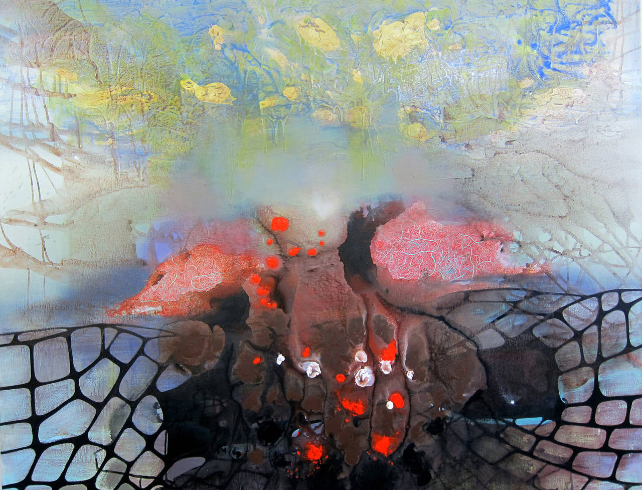 Jennifer Coates Abstract Painting - Rampart