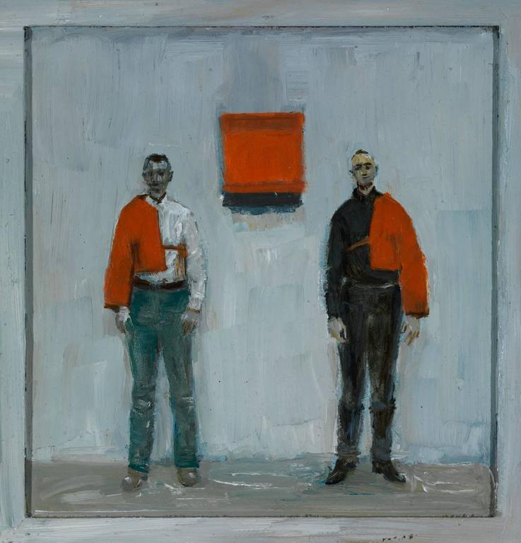 Goran Djurovic Figurative Painting - Red Felt