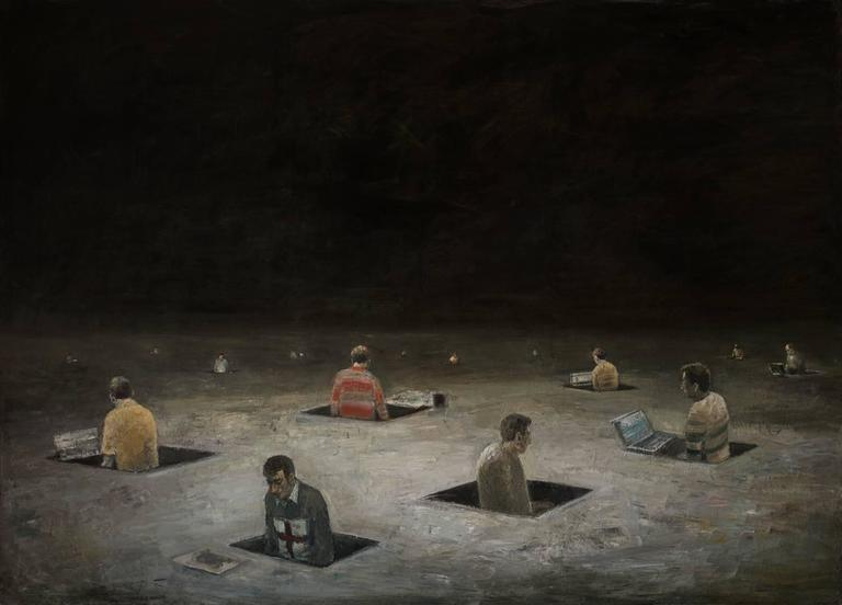 Goran Djurovic Protagonisten I Painting For Sale At 1stdibs