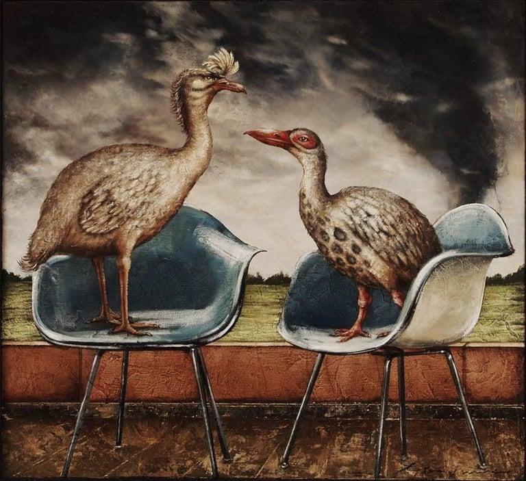 Tyson Grumm Animal Painting - Mod Birds
